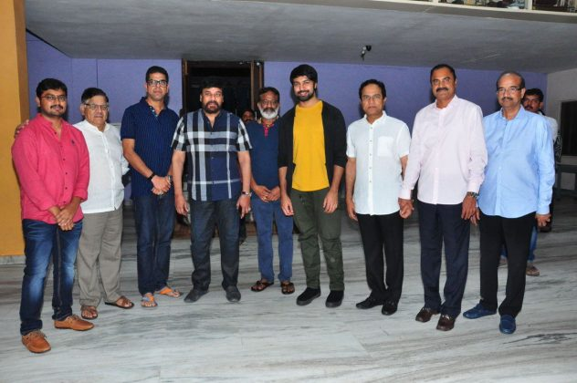 Megastar Chiranjeevi Watched Vijetha Movie