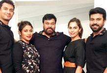 Upasana and Chiranjeevi visits Ram Charan 12 Sets
