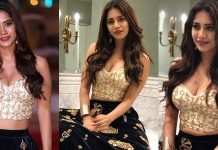 Actress Nabha Natesh at SIIMA Awards 2018