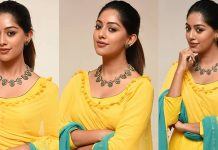 Anu Emmanuel In Yellow Dress Pics
