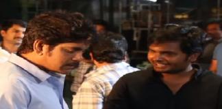 Nagarjuna with Devadas movie director Sriram Aditya