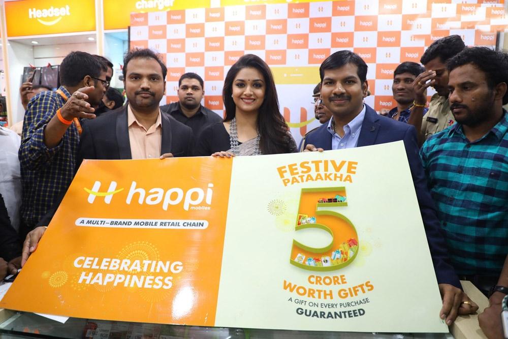 Happi Mobiles Grand Store Opening By Keerthi Suresh At Guntur Photos