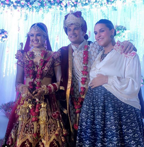 Neha Dupia With Yuvika Chaudhary and Prince Narula