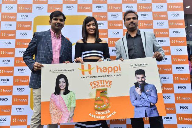 Rashmika Mandanna Launches Happi Mobiles At Banjara Hills Images
