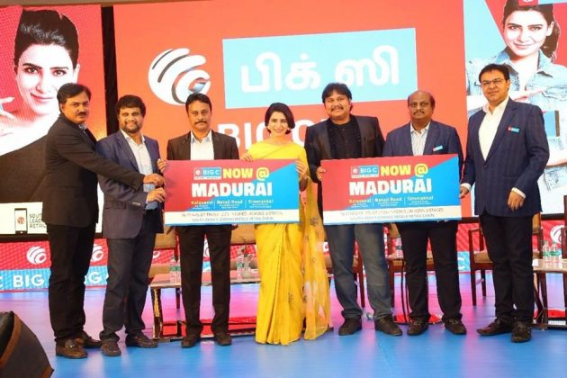 Samantha Launches Big C Mobile At Madhurai Images