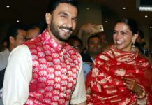 Deepika Padukone and Ranveer Singh at Mumbai airport