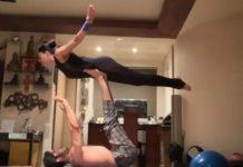 Sushmita Sen workout with young Rohman Shawl