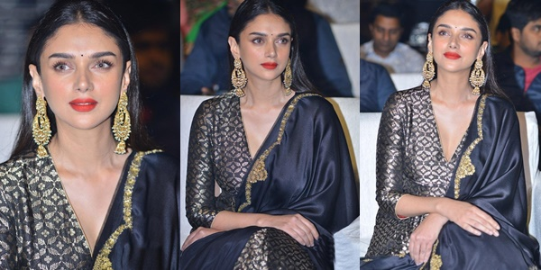 Aditi Rao Hydari At Antariksham 9000 KMPH Movie Pre Release Event Images