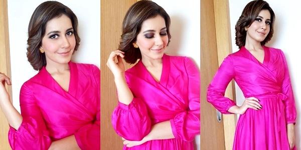 Raashi Khanna Latest Stills In Pink Images