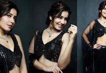 Raashi Khanna Looking Beautiful In Black Photos