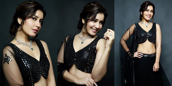 Raashi Khanna Looking Beautiful In Black Photos