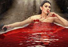 Hansika Motwani Bathing With Blood