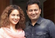 Kangana Ranaut with Manikarnika Movie Producer