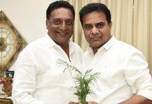 KTr Meeting Prakash Raj