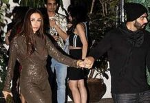 Arjun Kapoor And Malaika Arora Stepped late night dinner
