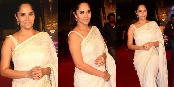 Actress Anasuya Bharadwaj Stills From Zee Cine Awards Telugu 2018 Red Carpet