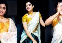 Beautiful Rashmika Mandanna Traditional Saree Images