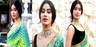 Janhvi Kapoor Looking Beautiful In Saree Images