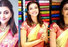 Kajal Aggarwal Stills From Maangalya Store Launch Images