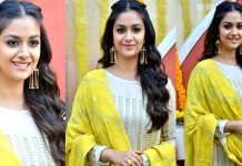 Keerthy Suresh Stills From East Cost Productions No 3 Movie Opening Images