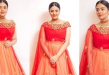 Sreemukhi Latest Stills. She's Looking Beautiful In Red. Photos