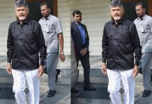Chandrababu Naidu In Black Shirt