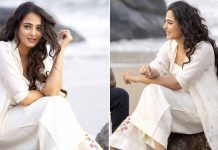 Anushka Shetty In White Dress At Beach