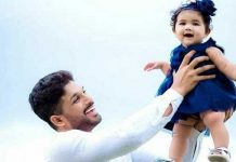 Allu Arjun with daughter Allu Arha cute video