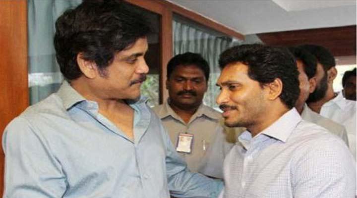 Akkineni Nagarjuna With YS Jagan Mohan Reddy