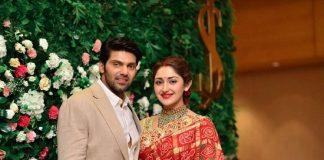 Arya And Sayyeshaa's Wedding Reception Pics