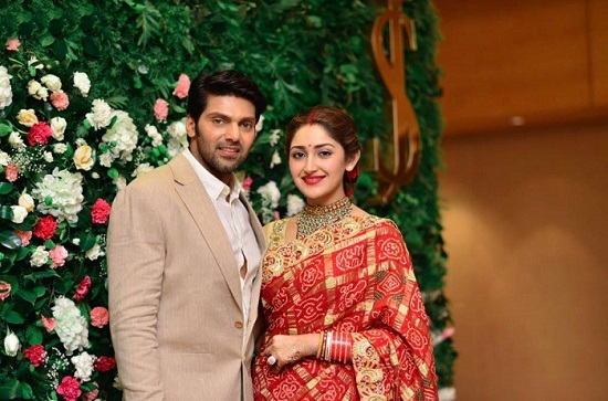 Arya And Sayyeshaa's Wedding Reception Pics