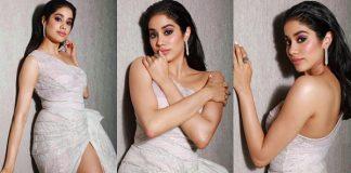 Janhvi Kapoor Hot Stills From Hello Hall Of Fame Awards 2019 Photos