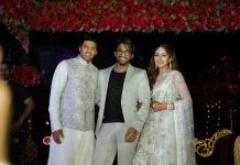 Stylish Star Allu Arjun Attends Arya-Sayesha Saigal's Sangeeth Ceremony Photos