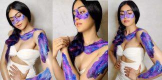 Tollywood heroine adah sharma cleavage show pics