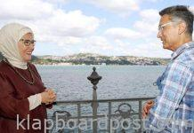 Aamir Khan and Emine Erdogan