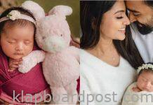 Actress sneha shares her daughter first pic on husband Prasanna's birthday