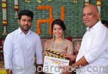 Sharwanand 'Aadallu meeku joharlu' movie shooting began