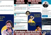 Eros hurts Hindu sentiments & later apologises