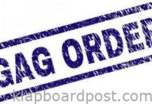 Gag order on social media platforms too