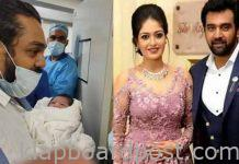 Actress meghana raj blessed with a baby boy