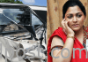 Actress Kushboo car met accident