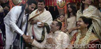 Hero Nitin in Singer Sunitha wedding