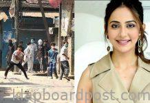 Locals stone pelted on rakul Attack movie shooting