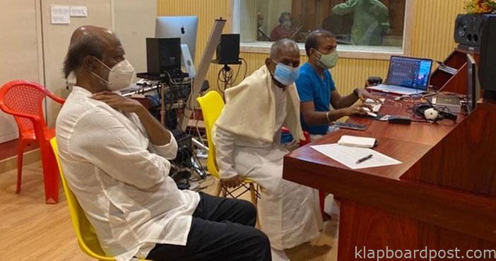 Rajinikanth visits Ilayaraja music studio