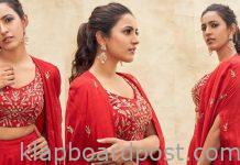 Niharika Konidela Looks Stunning In Red