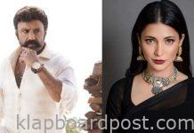 Shruthi Haasan in Balayya-Gopichand Malineni movie