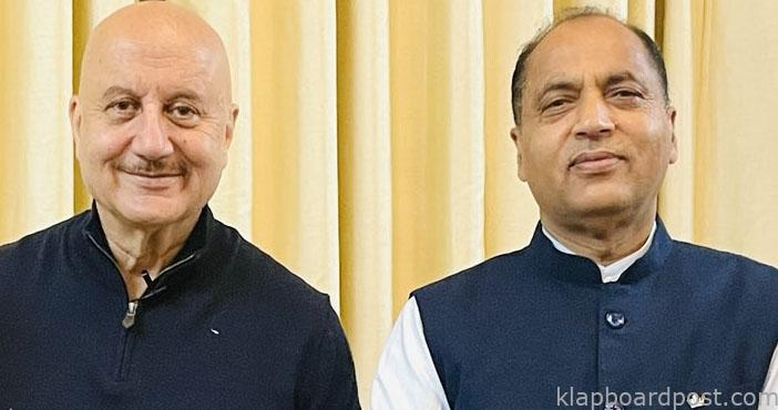 Anupam discusses film city in Himachal with CM