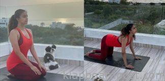 Keerthy Suresh Brings in Yoga Day with a Lean Look