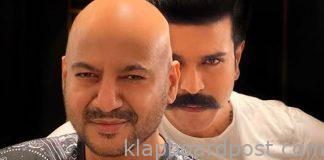 Ram charan entered in 'RRR' sets