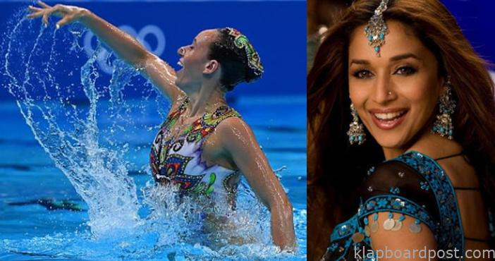 Israel swimmers perform to Madhuri Dixit's number